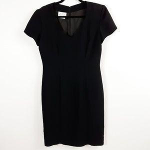 David Warren New York Black Short Sleeved Dress
